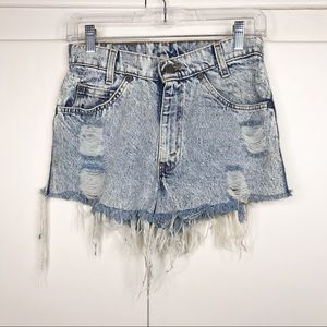 Vintage Levi's 506 acid wash distressed shorts